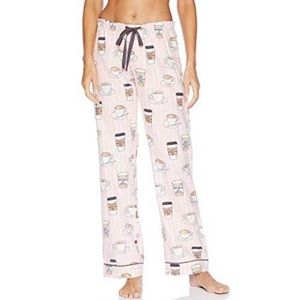 NWT PJ Salvage Rise & Grind Coffee Flannel Pant